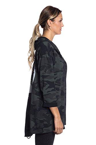 Abbino IG002 Jacken Damen - Made in Italy - Viele Farben - Mode Trend Damenshirts Übergang Frühling Sommer Herbst Winter Charme Umhang Elegant Sale Warm Modisch Komfortabel Junge Schöner Khaki Grün (Art. 17316)