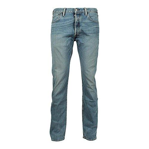 Levi's Herren Jeans 501 Original Straight Fit Blau