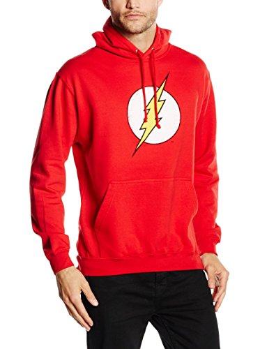DC Comics Herren Flash Distress-Mens P/O Hood Kapuzenpullover, Rot (Red), XXL (Dc Herren Kapuzen Sweatshirt)