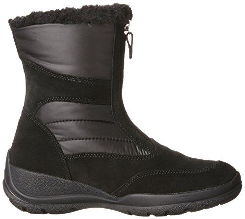 Geox D Hellin B, Bottes de neige de hauteur moyenne, doublure chaude femme Noir - Schwarz (C9999BLACK)