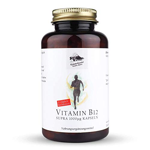 Kräuterhandel Sankt Anton - Vitamin B12 Supra 1000 mcg Vitamin B12 Kapseln - 185 Kapseln - hochdosiert - Deutsche Premium Qualität