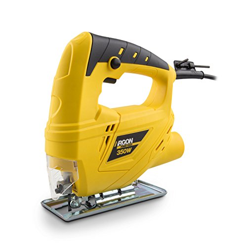 Argon Power Tools 46238 - Sierra caladora (350W, 0-3000 RPM, inclinación base 0-45º) color amarillo