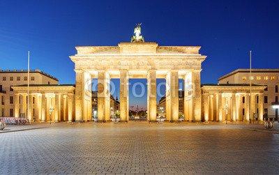 druck-shop24 Wunschmotiv: Berlin - Brandenburg Gate at night #121054889 - Bild auf Forex-Platte - 3:2-60 x 40 cm/40 x 60 cm