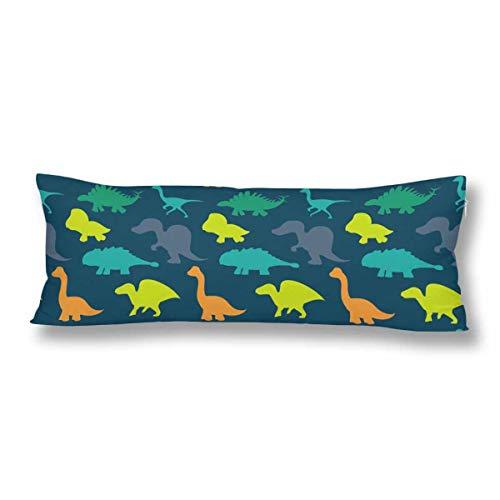 CiCiDi Körperkissenbezug 5ft (140 x 40 cm) Niedliche Cartoon Dinosaurier Alte Tier Weiche Baumwolle Maschinenwäsche mit Reißverschlüssen Mutterschaft/Schwangerschaft Kissenbezug -