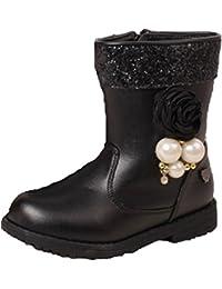 Ohmais zapato niña botas Botas de nieve de piel Boots Para niña