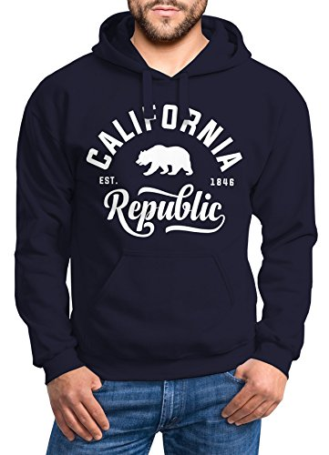 Hoodie Herren California Republic Kapuzen-Pullover Männer Neverless® California navy