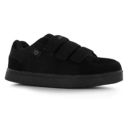 airwalk-kids-brock-childrens-skate-shoes-boys-casual-faux-suede-finish-trainers-black-uk-2