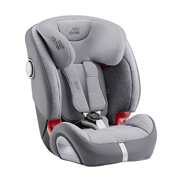 Britax Römer Evolva 1-2-3 Sl Sict Group 1-2-3 (9-36Kg) Car Seat  This EVOLVA 1-2-3 SL SICT will come in a Grey Marble design cover which is made from a more premium fabric with extra detailing Installation, ISOFIX and a 3-point seat belt, or 3-point seat belt only Enhanced Side Impact Protection (SICT) minimises the force of an impact in a side collision 5