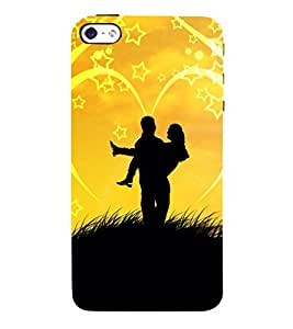 Lovely Pair 3D Hard Polycarbonate Designer Back Case Cover for Apple iPhone 5S