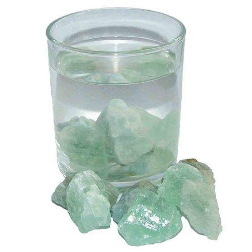 Preisvergleich Produktbild Heuschnupfen Edelsteinwasser Wassersteine 100 Gramm Aquamarin und Fluorit grün unbehandelte Rohsteine.(2364)