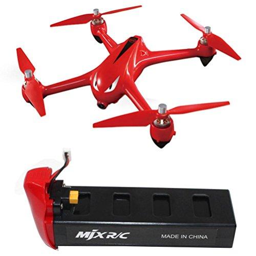 Jaminy Hubschrauber Langlebiges 7,4 v 1800mAh mit hoher Kapazität Lipo Batterie für MJX Bugs 2C/2W RC Quadcopter (Rot)
