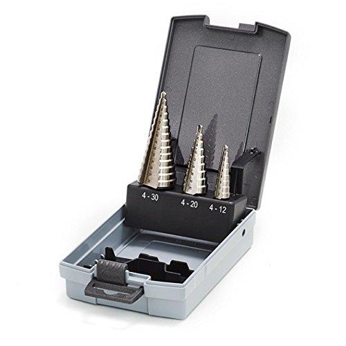 Thürmer Tools 4-30 mm set da 3 punte a gradini 4-12/4-20/4-30