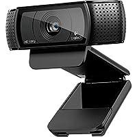 Logitech Pro C920 1920 x 1080Pixeles USB 2.0 Negro cámara web - Webcam (1920 x 1080 Pixeles, 720p,1080p, H.264, Mac OS X 10.6 Snow Leopard, iOS 5.0, USB 2.0)