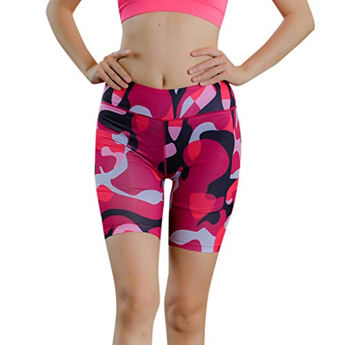, Frauen Camouflage Sport Shorts Leuchtenden Reflexstreifen Yoga Hose Radlerhose Fitness Hose Sportleggings Jogginghose Sweathose ()