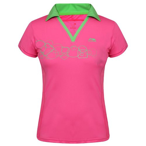 li-ning-t-shirt-pour-femme-a286-flexible-large-rouge-rose