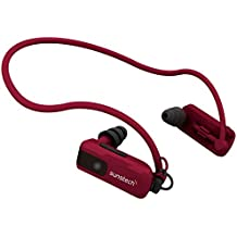 Sunstech TRITON4GBRED - Reproductor de MP3 de 4 GB (resistente al agua, con almohadillas