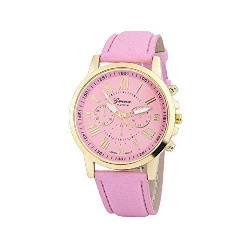 Darringls_Reloj Geneva,Reloj Analogico para Mujer de Cuarzo Mujeres Moda Mujer Reloj de Pulsera Correa de Cuero Cuero Reloj Casual Lujo analógico Cuarzo Cristal Relojes de Pulsera de Cuarzo