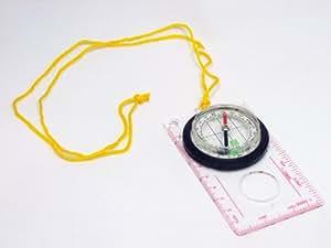 Kompass GLOBEMAN transparent - Kartenkompass für Orientierungslauf, Fahrrad, Geocaching, Wanderungen, Freizeit und allgemeine Orientierung in freier Natur - ideal auch für Kinder und Schüler - mit praktischer PDF-Bedienungsanleitung - Marschkompass aus Kunststoff mit Schnur - liegt gut in der Hand - hat einen Entfernungsmesser 1:25000 und 1:50000 sowie ein sehr wichtiges Millimetermaß - 90 Tage Zufriedensheitsgarantie - inklusive Bonus Survival Ebook im Wert von EUR 27 GRATIS - ideale Investition in die Sicherheit Ihrer Liebsten