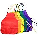 Delantales para niños, 6 piezas 6 colores Delantales no tejidos para manualidades Pintura artística Actividades