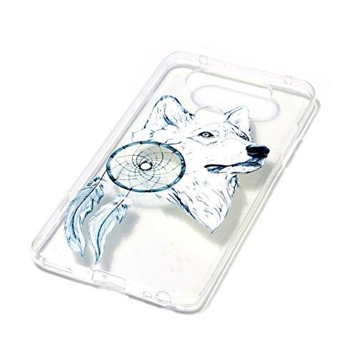 WYSTORE LG V20 Case Silicone Coque Souple Transparente TPU Silicone en Gel Case Premium Ultra-Light Ultra-Mince Skin de Protection Pare-Chocs Anti-Choc Bumper pour LG V20 -A07 A06