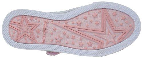 Skechers Sparkle Glitz-Shiny Spirit, Scarpe da Ginnastica Basse Bambina Bianco (Wmnt)