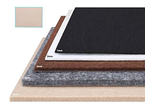 Besbuy Fogli in feltro con retro adesivo, 8 pezzi, spessore 1mm-5mm, per pastiglie mobili artigianali di arte multiuso (Beige 15×20cm)