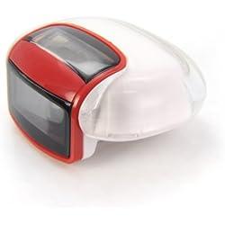 Incutex Contador de Pasos calorias podómetro calculadora de Distancia con Pantalla LCD, Rojo