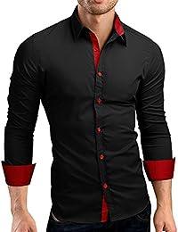Camisas hombre Auto-cultivo de los hombres costura mangas largas camisa-Tops  estilo de otoño 814bca417fa7f