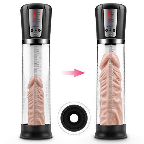ANTRY Elektrisch Penispumpe Vakuumpumpe für Herren Erotik Sexspielzeug für Männer Penis Größer zur Hilfe der Erektion und Sexzeit-Verlängerung Enhancer Prolong Penis