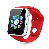 Bluetooth Smart Watch, 1.54inch kkcite smartwatch 2G GSM - HANDY - Sim - und Kinder für Schlaf - überwachung, kameras, push - nachricht für Android, anti - verlust (teilweise funktionen für iPhone)