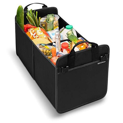 Kewago Kofferraumtasche aus Oxford Gewebe | Kofferraum Organizer fürs Auto mit satten 40 Litern Volumen | Extra Stabil und Strapazierfähig - Klappbar Und Platzsparend