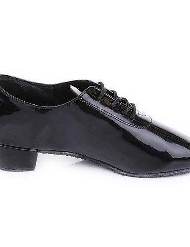 ShangYi Chaussures de danse (Noir) - Non personnalisable - Talon plat - Similicuir - Moderne Black