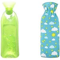 Sicheres PVC-Wärmflasche mit Abdeckung Warm halten für Erwachsene oder Kind 1,0 Liter (grün) preisvergleich bei billige-tabletten.eu