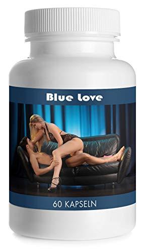 Blue Love by VargPower | 60 Kapseln | Natürliches Potenzmittel für Frauen | Natürliche Formel für Sorglosen Spaß | Aktive Frau | Potenz Tabletten | Markenartikel | Hochdosiert | Kraft und Ausdauer