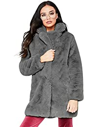 B-commerce Damen Mantel Langarm - Winter Warm Revers Fuchs Kunstpelz Mantel  Outwear Outwear mit aa13ef5052