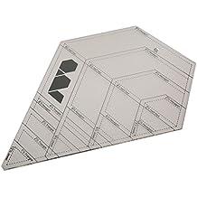 DIY herramientas de costura patchwork acrílico con forma de diamante Patchwork Regla multifunción herramientas de mano