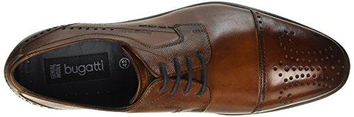 Bugatti 311128081100, Scarpe Stringate Uomo Marrone (Braun (cognac 6300))