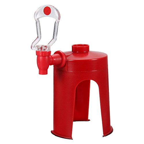 SODIAL(R) Soda Dispenser Fizz Dispenser Drink Spender Wasserspender Party Cola Sprite, Rot (Kühlschrank-drink-dispenser)