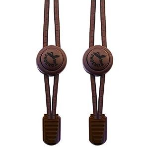 Phoenix Fit UK, Sistema elastico di lacci con chiusura, nessun bisogno di allacciare le scarpe, facili da mettere, in una gamma di colori Ideale per atleti, bambini, anziani e persone con stile di vita attivo. 1 paio., marrone