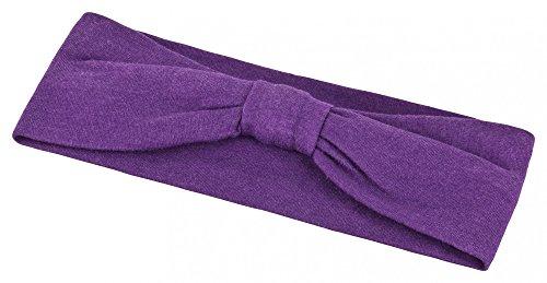 tanzmuster Kinder Ballett Haarband / Stirnband in Knotenoptik. Ein praktisches Accessoire für den Ballettunterricht in lila (Pony Auf Einem Stirnband)