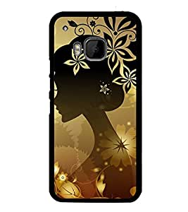Fuson Premium 2D Back Case Cover Animated girl With Black Background Degined For HTC One M9::HTC M9::HTC One Hima