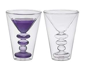 bitossi home bhv12670 set 2 martini gl ser cocktail aus borosilikatglas doppelter boden amazon. Black Bedroom Furniture Sets. Home Design Ideas
