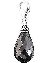 Thomas Sabo Tropfstein Charm Anhänger Silber schwarzer Zirkonia T0302-051-11