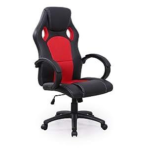 racing b rostuhl bicolor racer sport schalensitz chefsessel drehstuhl rot schwarz. Black Bedroom Furniture Sets. Home Design Ideas