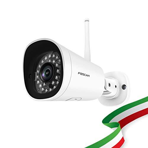Foscam g4p telecamera domestica wireless ad altissima risoluzione 2k 4mp, impermeabile e dotata di visione notturna. compatibile con amazon alexa.