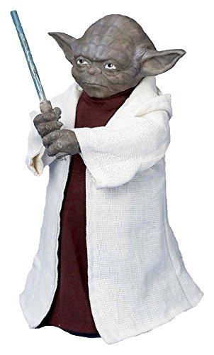 (Kurt Adler 12Zoll batteriebetrieben LED Star Wars Yoda mit Lichtschwert treetop)