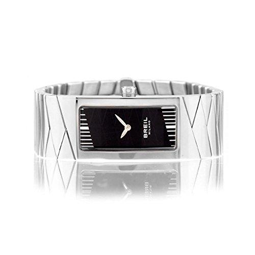 Breil bw0346-orologio con cinturino in pelle per donna, colore: nero/grigio