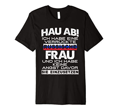 Ehemann Russin T-Shirt: Vorsicht Habe Russische Frau