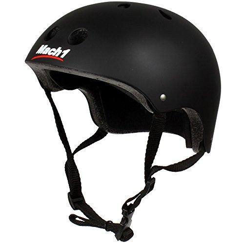 Mach1® Helm Skaterhelm, Fahrradhelm, BMX-Helm, Inliner-Helm für Skater schwarz-matt (51-54cm (Gr. S))