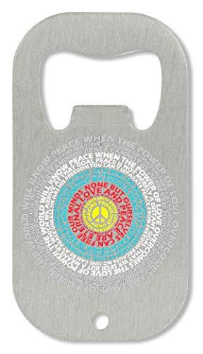 OpenWorld Peace Power of Hippie Theme Circle Powerful Healing Flaschenöffner -
